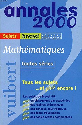 Mathématiques toutes séries, brevet corrigés numéro 10