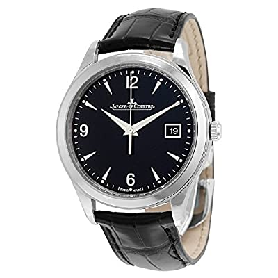 Jaeger LeCoultre Men's Master 39mm Black Leather Band Steel Case Sapphire Crystal Automatic Watch Q1548470