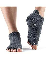 Toesox Ytoentlrcharm, Calze per Yoga E Pilates Unisex – Adulto, Charcoal Grey, Medium