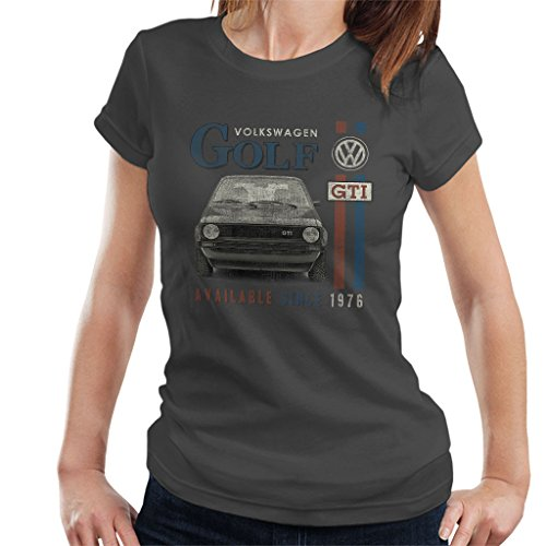 Official Volkswagen Volkswagen Golf GTI Racing Distressed Women's T-Shirt (Golf Distressed Shirt)