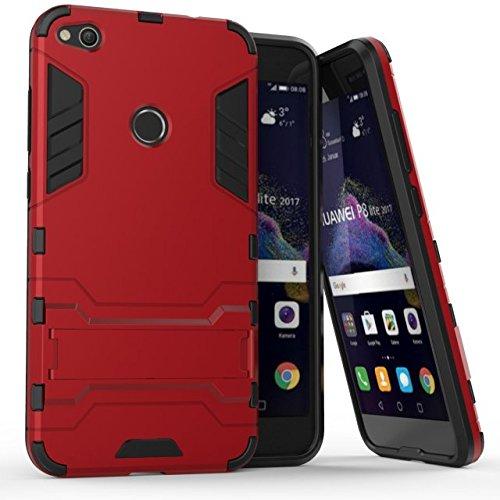 taglia 40 92730 c3cc7 Cover Huawei P8 Lite 2017, CHcase Huawei P8 Lite Doppio Strato ibrido  Cellulari custodie Assorbimento Scossa Protezione Silicone Custodie con  Supporto ...