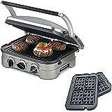 Cuisinart Griddler gr-4N, 5W/Waffle platos (reformado)
