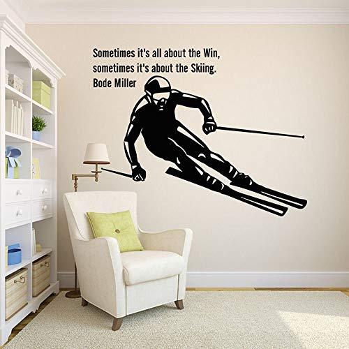 Ski alpin Sport Kunst Home Sticker Wandtattoo Wohnzimmer Schlafzimmer Dekorative Zitate Hauptdekoration Kunst Poster 57x72CM