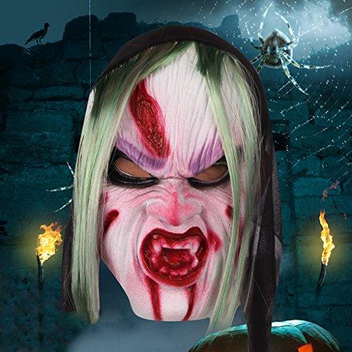 (Uus Horror Gesichtsmaske, Halloween Kostüm Party kreative Requisiten faulen Gesichtsmaske (Farbe : A))