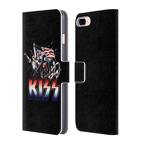 Ufficiale KISS America Posters Cover a portafoglio in pelle per Apple iPhone 4 / 4S Spirit Of 76