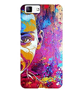 EPICCASE Colorful Face Art Mobile Back Case Cover For Vivo X5 (Designer Case)