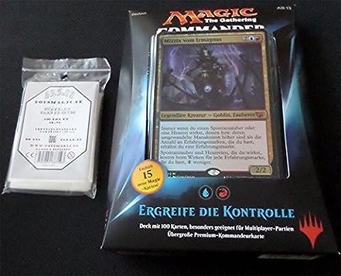 Commander 2015 Deck Ergreife die Kontrolle - Seize Control - Deutsch German + 100 Docsmagic.de Card Games Sleeves - Magic: The Gathering