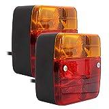 ODOMY 2X LED Rückleuchten Set Rücklicht Anhänger 7 polig Magnet verkabelt PKW Anhänger Beleuchtung Rücklicht