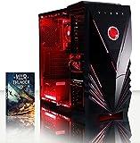 Vibox Ultra Pacchetto 11S Gaming PC con Gioco War Thunder, 3.1GHz AMD A8 Quad Core Processore, Radeon R7 Chip Grafico, 1TB HDD, 16GB RAM, Case Commando, Neon Rosso