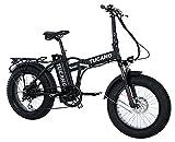 'Tucano Bikes Monster 20Limited Edition. Elektrisch Klappbar Fahrrad 20Motor 500W–supensión vorne–Höchstgeschwindigkeit 33km/h–LCD Display–Bremse Hydraulische, mattschwarz Test