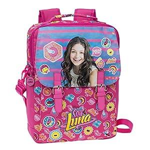 51XCjIuZJEL. SS300  - Disney Yo Soy Luna Mochila Escolar, 10.47 litros, Color Rosa