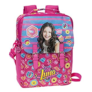 51XCjIuZJEL. SS324  - Disney Yo Soy Luna Mochila Escolar, 10.47 litros, Color Rosa