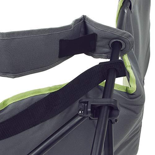 10T Campingstuhl Joe Beechnut XXL Klappstuhl Stuhl + Fußstütze & verstellbarer Rückenlehne max 150kg
