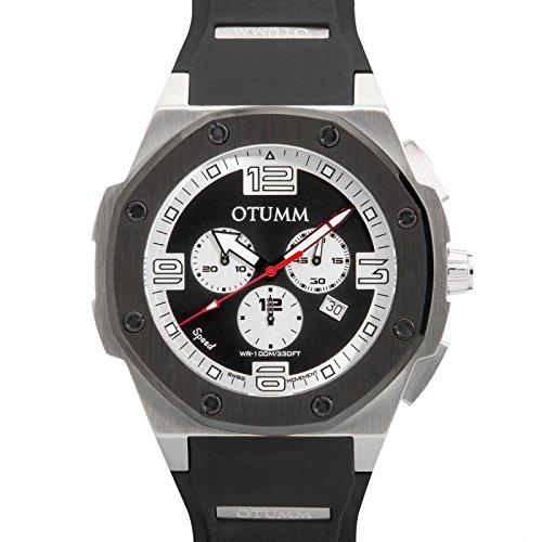 Otumm Speed Edelstahl 006 SChwarz 53mm Unisex Speed Uhr
