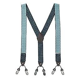 The Tie Hub Dazzel Black Y Back Suspender