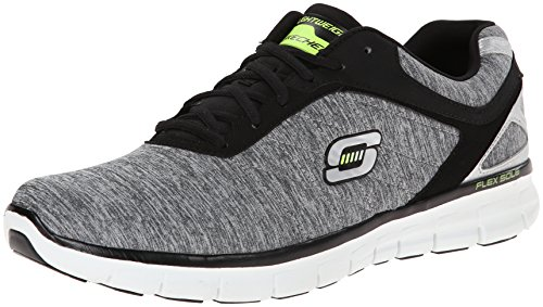 Skechers Synergy Crying Reaction 51189 LGBK Herren Sneaker, Grau (LGBK), EU 43