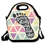 Apron bags Success Starts with The First Step Lunch Bag Lunch Tote