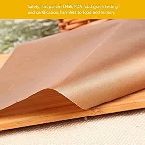 2 Pcs Nonstick Kitchen Copper Chef Grill Bake Mats BBQ Grill Mat Barbecue Pad