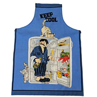 Tobeni ® 1708-010 Apron-Keep Cool for the Grill and the kitchen in 100 Cotton
