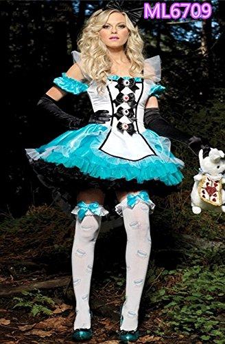 DLucc Alice im Wunderland cos Oktoberfest Halloween-Kostüm Prinzessin -