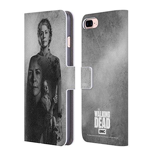 Offizielle AMC The Walking Dead Daryl Doppelte Aussetzung Brieftasche Handyhülle aus Leder für Apple iPhone 6 / 6s Carol