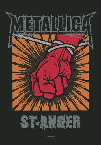 Metallica Bandiera St. Anger - Poster, 100% poliestere, Dimensioni 75 x 110 cm