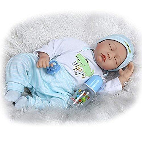 Rocking Horse Vinyl Baby Doll,Handmade Babies Creation Doll,Sleeping Reborn Doll,Toy With Dummy Boy Doll With