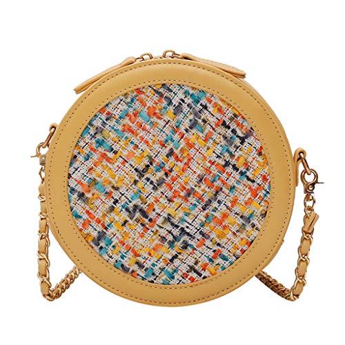 Huacat Frauen gewebt schrägE Kreuz Tasche Nähte Farbe Schultertasche Bag Umhängetasche Alltag - Madama Butterfly Kostüm
