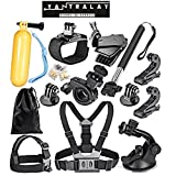 #1: Yantralay 15 in 1 GoPro Accessories Kit for Hero 5 4 3+ 3 2 1, SJCAM SJ4000 SJ5000, Yi & Other Action Cameras (15 Items)