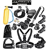Yantralay GoPro Accessories Kit for Hero 5 4 3+ 3 2 1, SJCAM SJ4000 SJ5000, Yi & Other Action Cameras