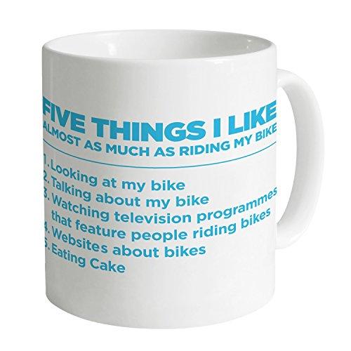 Shotdeadinthehead Five Things I Like - Cycling Mug