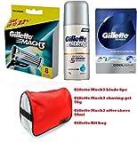 #8: Gillette Grooming kit (Gillette mach3 blades 8pc + Gillette Mach3 shaving gel + Gillette After Shave + Gillette kit bag)