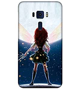Asus Zenfone 3 ZE552KL (5 Inches) barbie Printed Cell Phone Cases, dolls Mobile Phone Cases ( Cell Phone Accessories ), magic Designer Art Pouch Pouches Covers, sword Customized Cases & Covers, wings Smart Phone Covers , Phone Back Case Covers By Cover Dunia