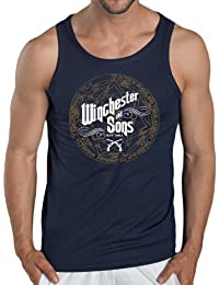 Touchlines Herren Kontrast T-Shirt Winchester and Sons Tank Top