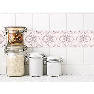 GRAZDesign 770249_15x15_FL40st Fliesenaufkleber Rosa Portugiesisch |  Fliesenbilder   Klebefliesen Fliesen Für Badezimmer Und Küche | Für