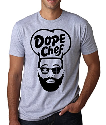 LukeTee Dope Chef Hipster Beard Sunglasses Men's T-Shirt Large