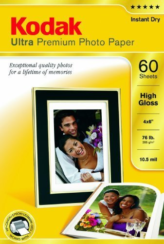 Kodak ultra premium photo paper high gloss - 60 sheets - 4 x 6 by kodak
