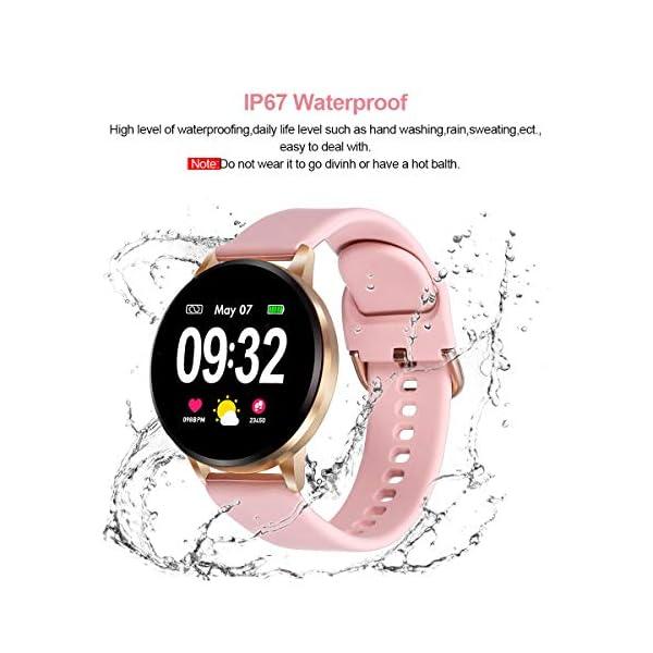 GOKOO Smartwatch Fashion para Hombre Mujer Impermeable Reloj Inteligente Monitores de Actividad Fitness Tracker con… 8