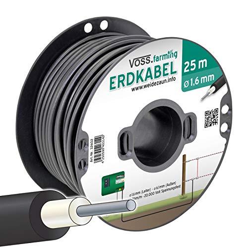 Câble haute tension câble souterrain/câble de sortie âme en acier 1,6 mm, 25 m