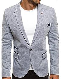 OZONEE Herren Sportsakko Sportliche Sakko Jackett Slim Fit Blazer Anzugjacke Business Anzug Kurzmantel BLACK ROCK 05