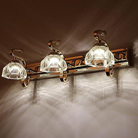 tydxsd Rückspiegel LED-Licht Up Badezimmer Bad Schrank Spiegel Einfache Bad Beleuchtung Wandspiegel Spiegel aus Glas Continental lampe Front