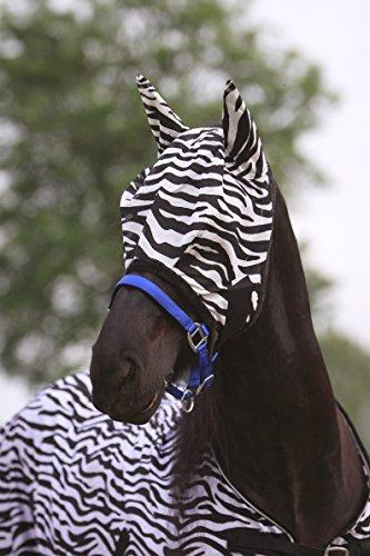 Zebra Fliegenmaske Pony