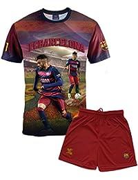 Ensemble Maillot + short Barça - NEYMAR Junior - Collection officielle FC BARCELONE - Taille enfant garçon