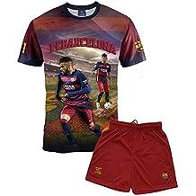 FC Barcelona Jungen-Trikot und kurze Hose, Neymar, Nr. 11, offizielle Kollektion, Kindergröße