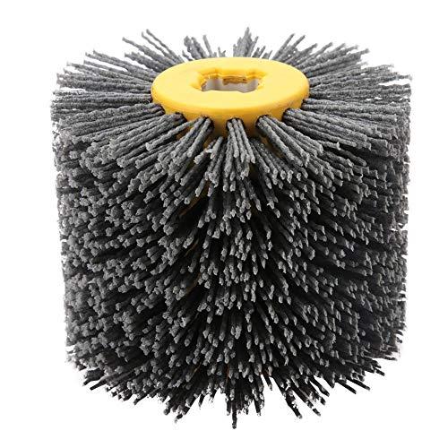 Nylonbürste, Drahtziehrad Pinsel Polieren Polierscheibe Körnung # 240, 19 mm Bohrung, Durchmesser: 120 mm, Schwarz Schleifbürste