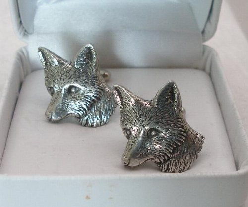 foxs-head-cufflinks-by-hoardersworld-in-english-pewter-handmade-gift-boxed-hunting-ab-b
