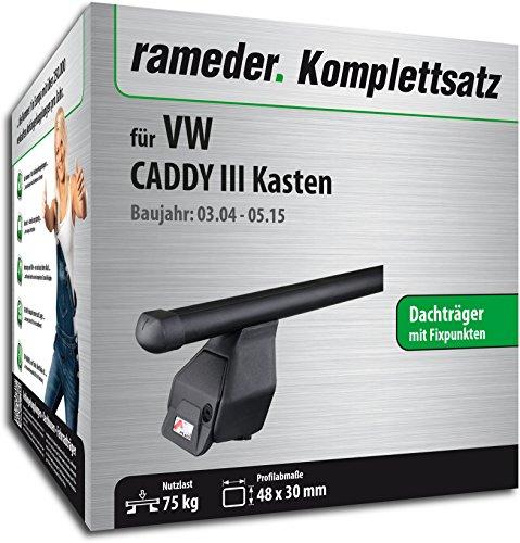 Rameder Komplettsatz, Dachträger Tema für VW CADDY III Kasten (118880-05083-2)