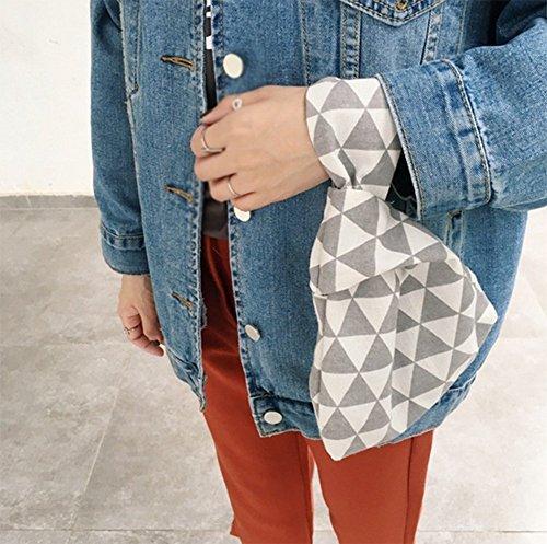 Laat pieghevole cinturino borsa in pelle donne borsa frizione sacchi porta carte di credito soldi di stoccaggio della corsa trasporta zaini piccola borsa tote bag Color 1 21*17*5 Grey 1