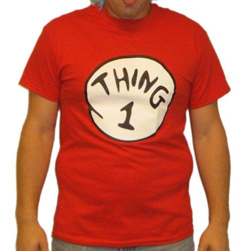 Thing 1 Seuss Dr Kostüm - Thing 1T-Shirt Kostüm DR Seuss Cat in The Hat Herren Gr. XXL, Rot - Rot