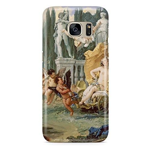Queen Of Cases Coque pour Apple iPhone 5S Motif renaissance italienne-Peinture de qualité supérieure en plastique vert